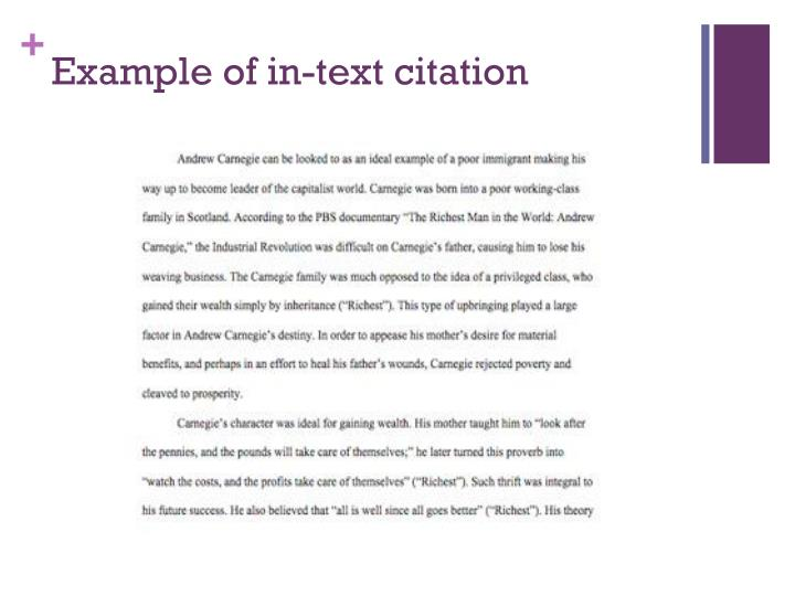 Example of in-text citation