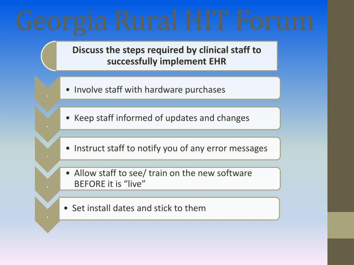 Georgia Rural HIT Forum