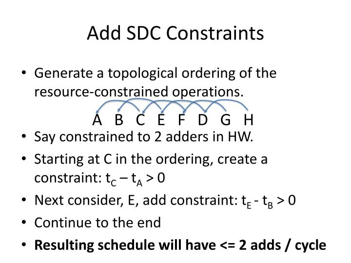 Add SDC Constraints