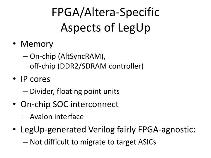 FPGA/Altera-Specific