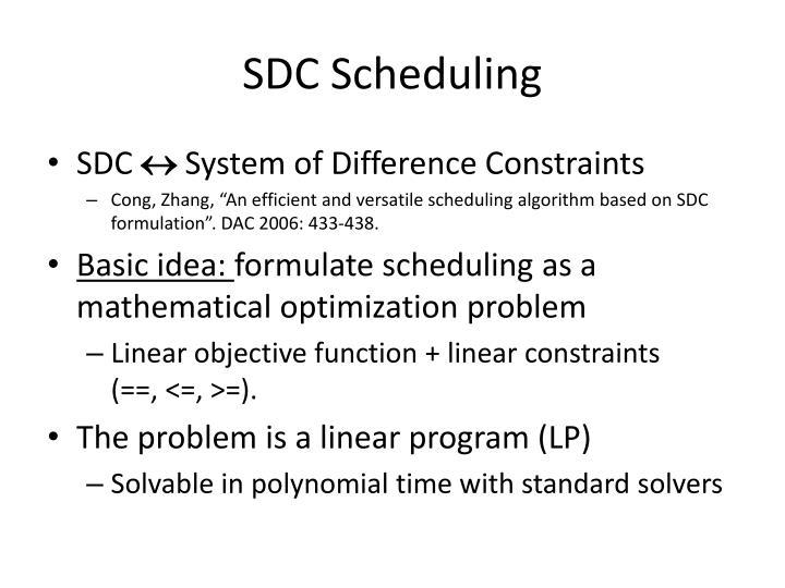 SDC Scheduling