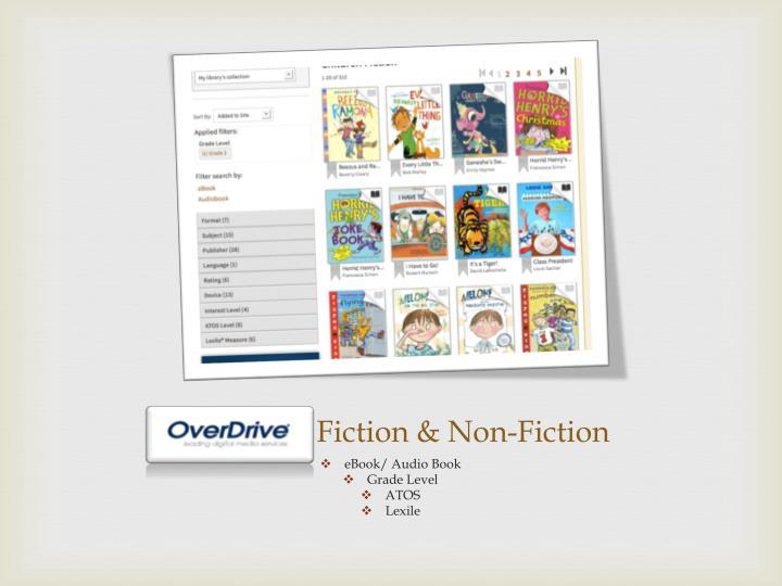 Overdrive Fiction & Non-Fiction