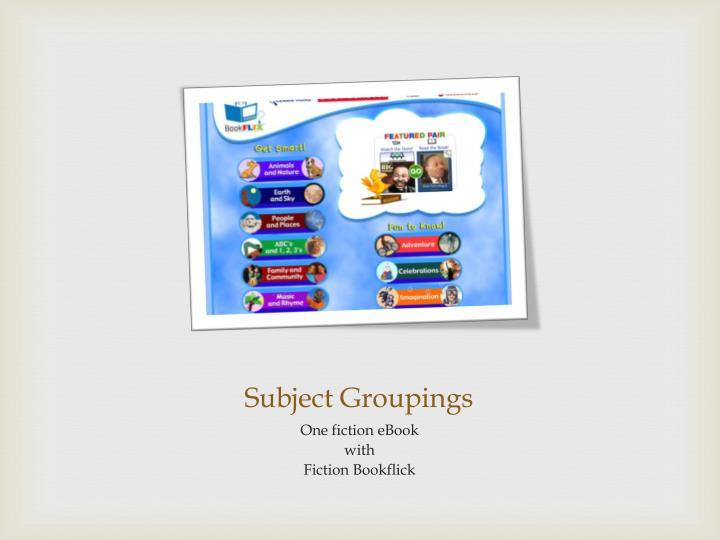 Subject Groupings