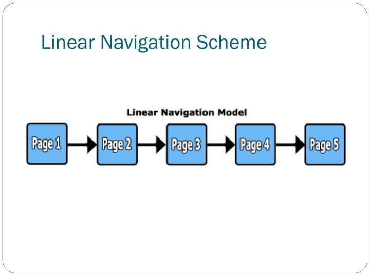 Linear Navigation Scheme
