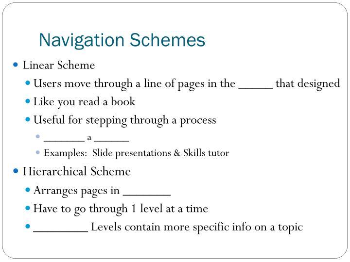 Navigation Schemes
