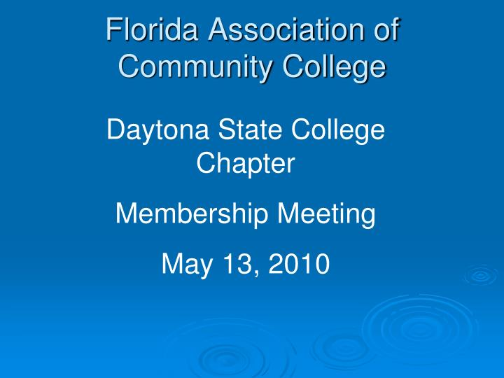 Florida association of community college