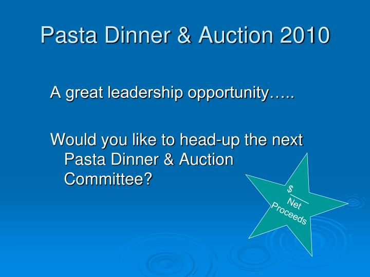 Pasta Dinner & Auction 2010
