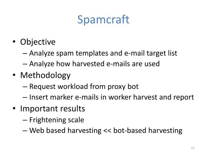 Spamcraft
