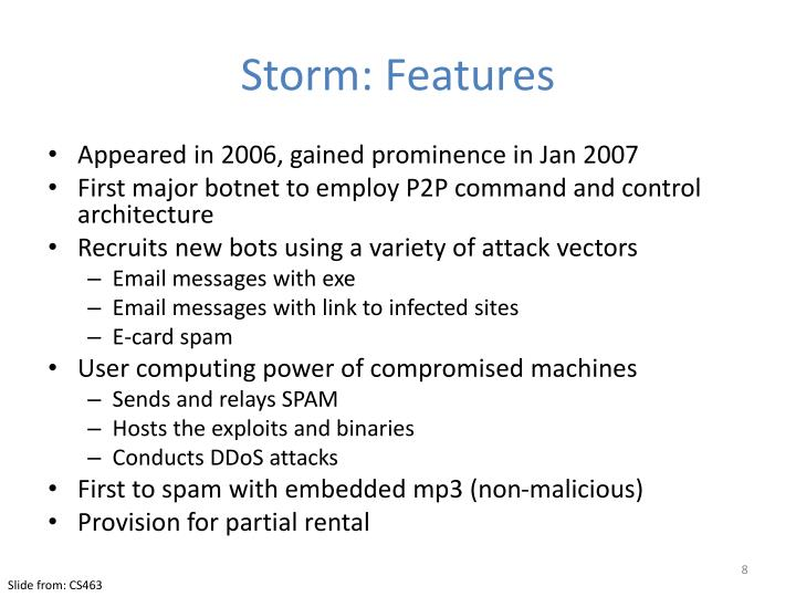 Storm: Features
