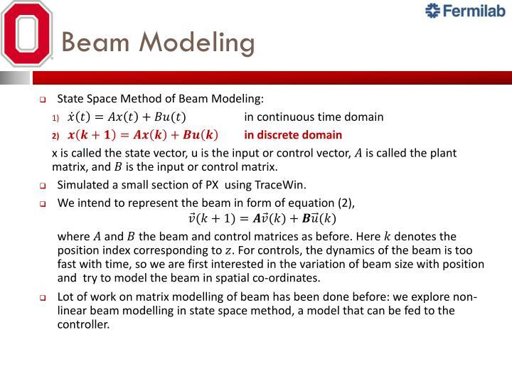 Beam Modeling