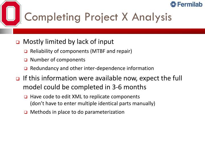 Completing Project X Analysis
