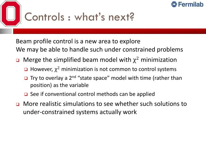 Controls : what's next?