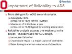 importance of reliability to ads