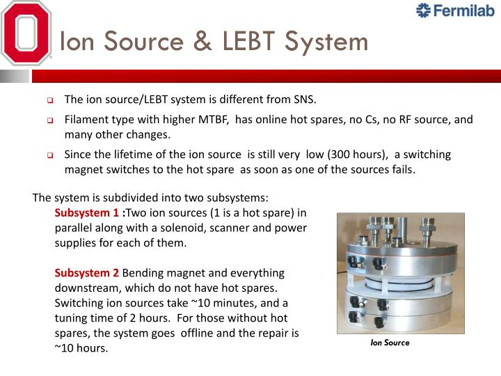 Ion Source & LEBT System