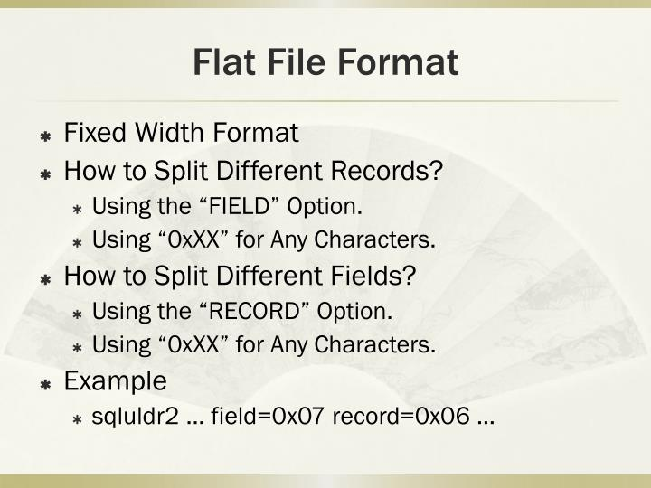 Flat File Format