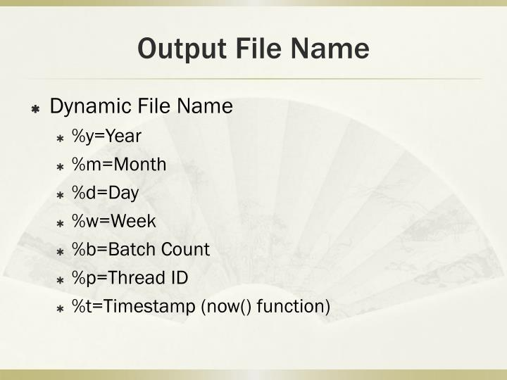 Output File Name