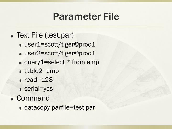Parameter File