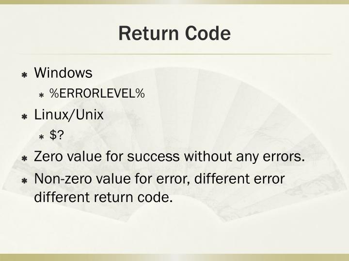 Return Code