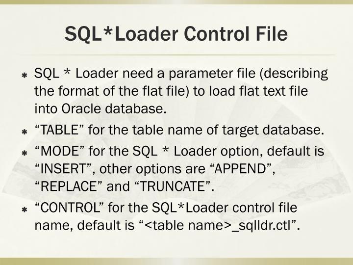 SQL*Loader Control File