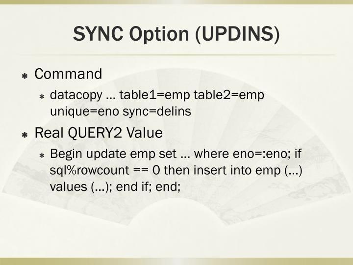SYNC Option (UPDINS)