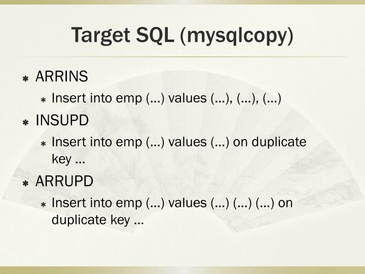 Target SQL (