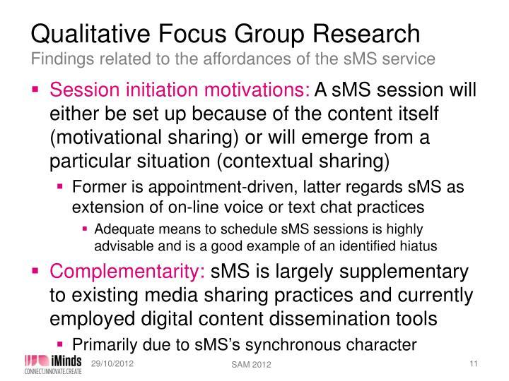 Qualitative Focus Group Research