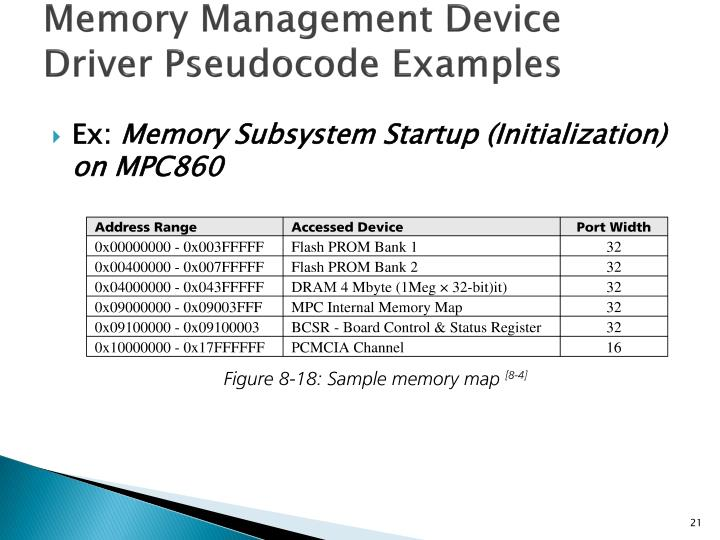 Memory Management Device Driver