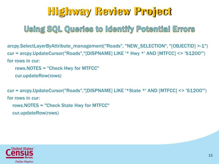 Highway Review Project