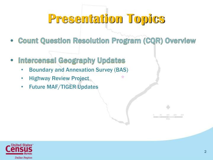 Count Question Resolution Program (CQR) Overview