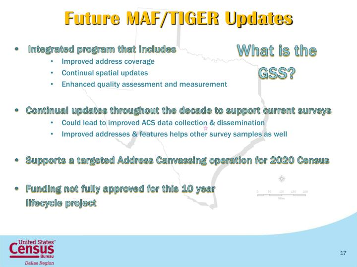 Future MAF/TIGER Updates