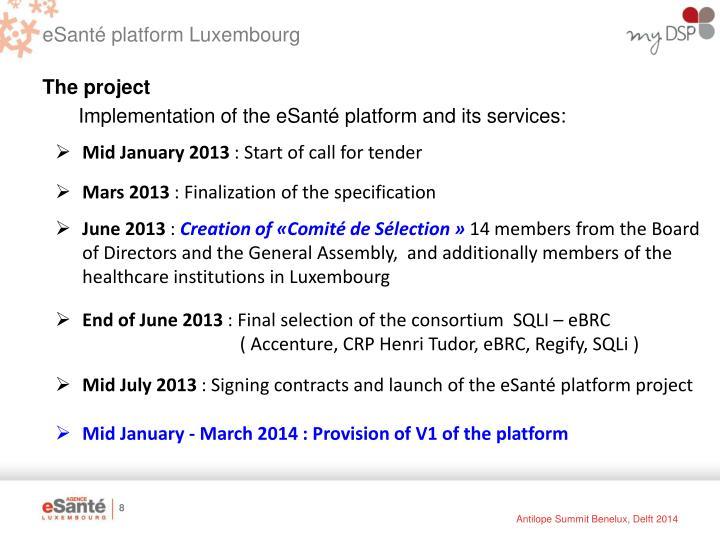 eSanté platform Luxembourg