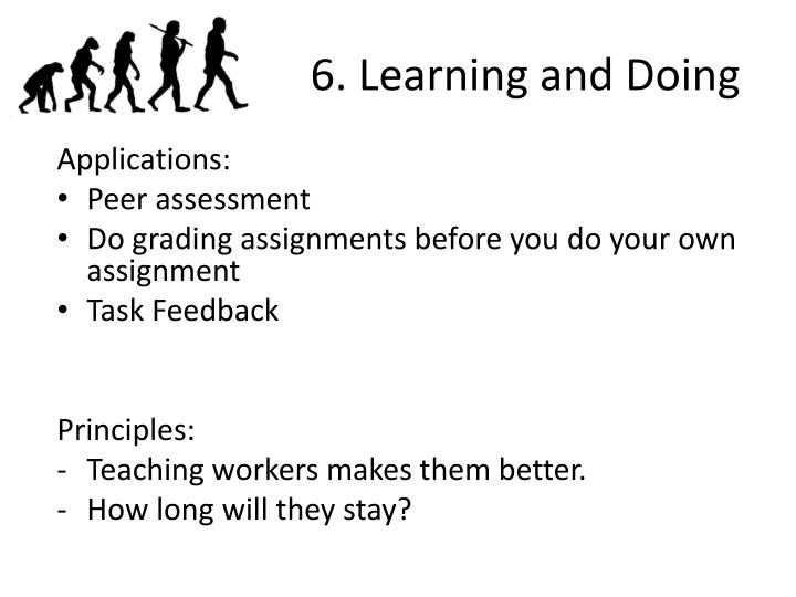 6. Learning and Doing