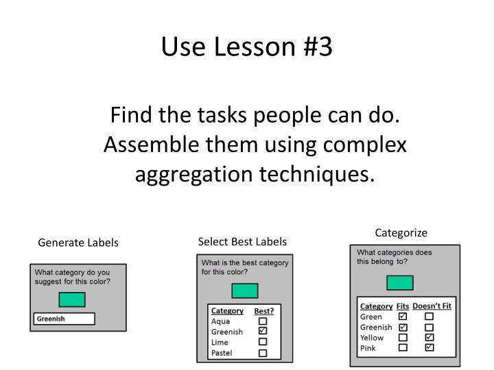 Use Lesson #3