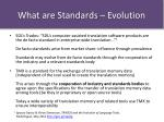 what are standards evolution