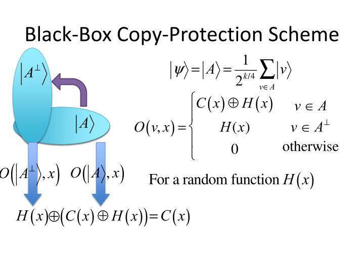 Black-Box Copy-Protection Scheme