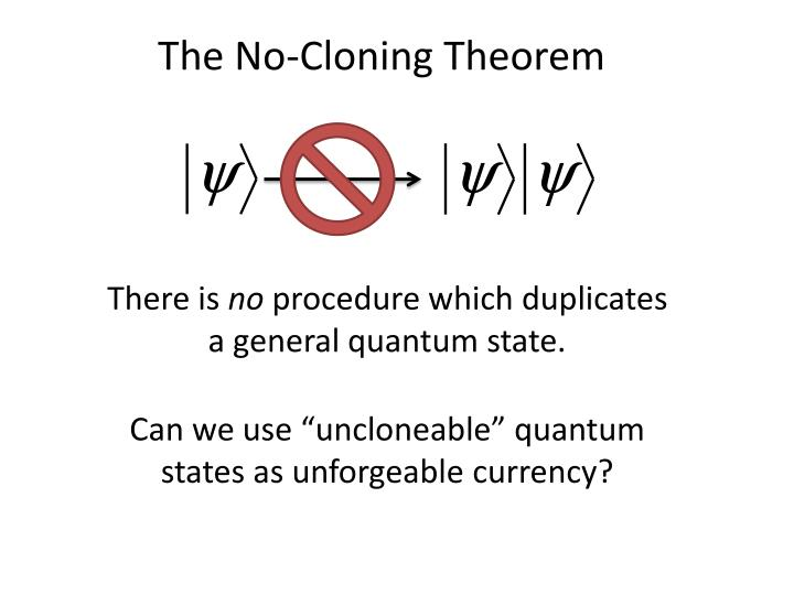 The No-Cloning Theorem