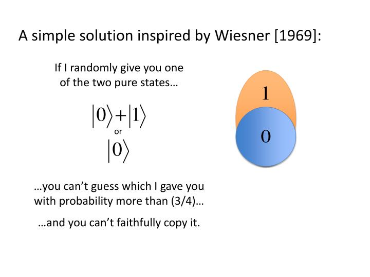 A simple solution inspired by