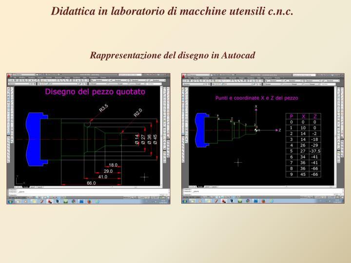 Didattica in laboratorio di macchine utensili