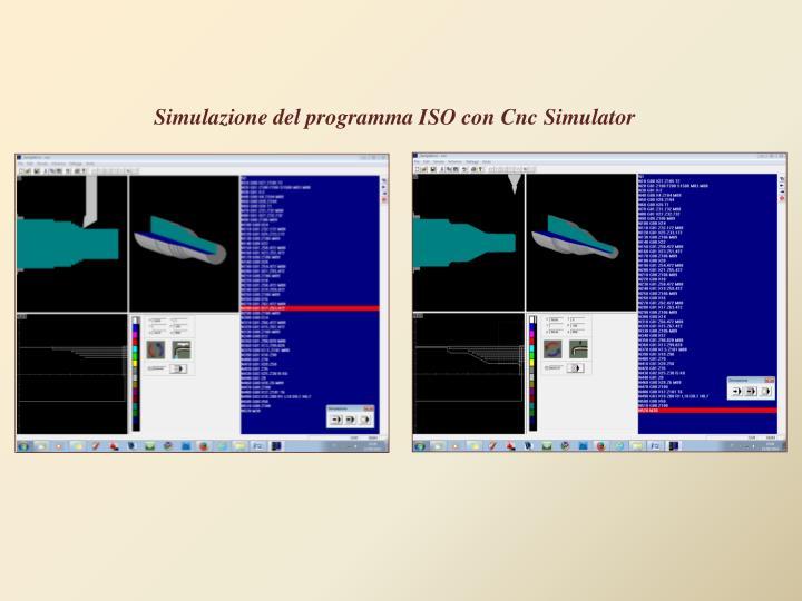 Simulazione del programma ISO con