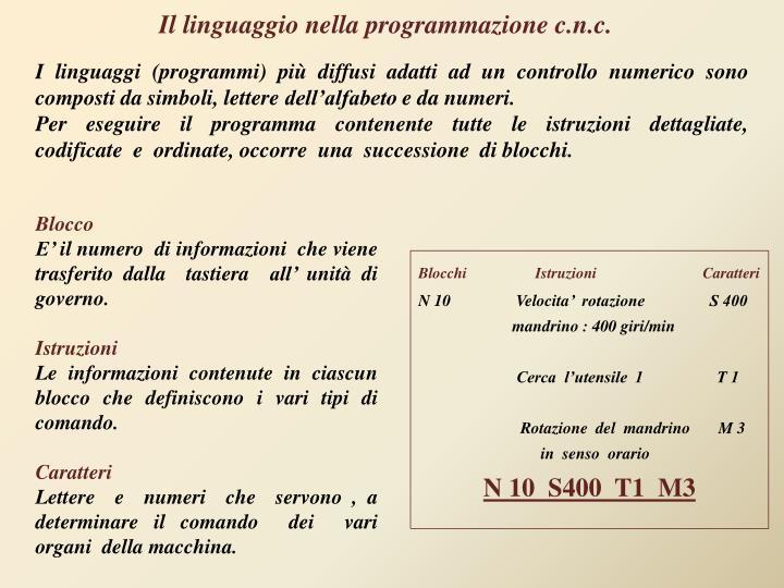 Il linguaggio nella programmazione