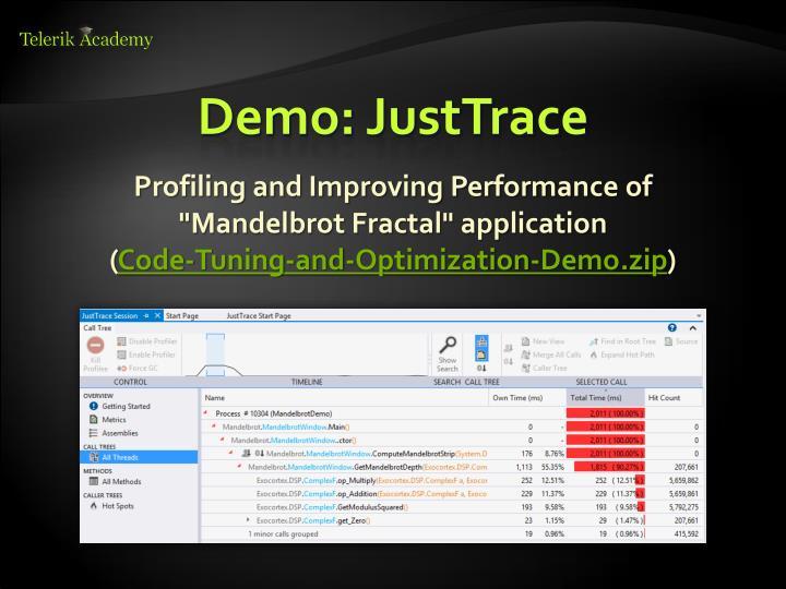 Demo: JustTrace