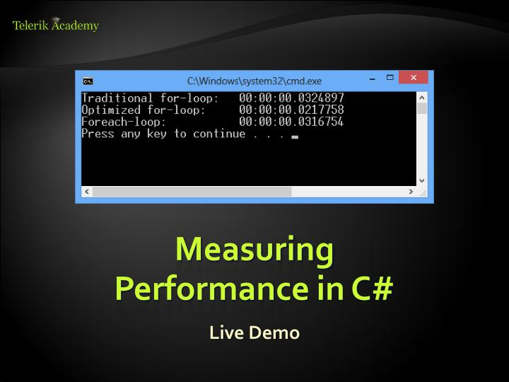 Measuring Performance in C#