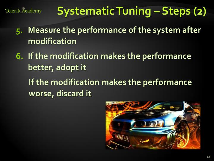 Systematic Tuning –