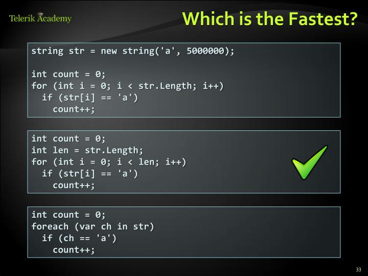 Which is the Fastest?