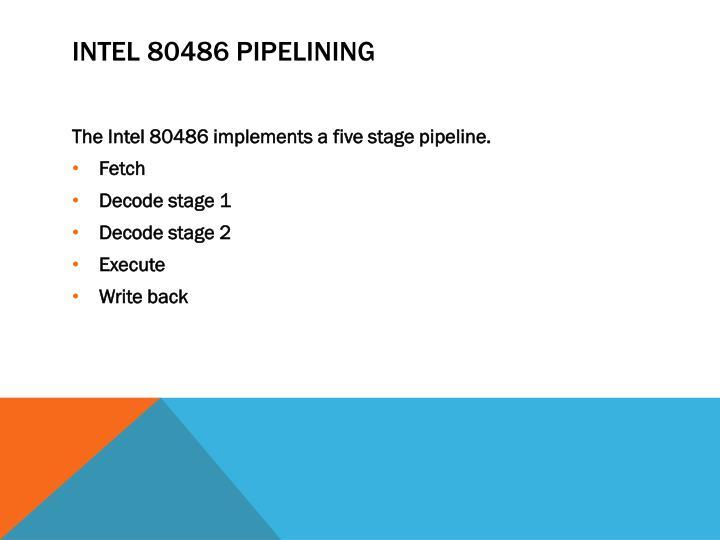 Intel 80486 Pipelining