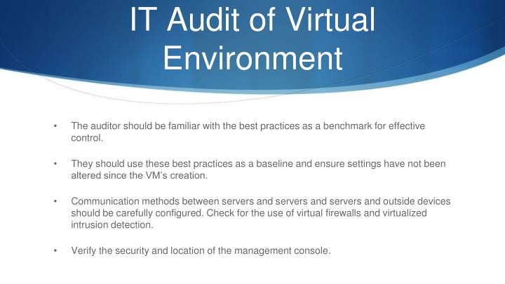 IT Audit of Virtual
