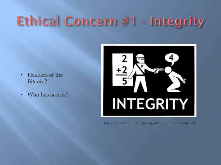 Ethical Concern #1 - Integrity