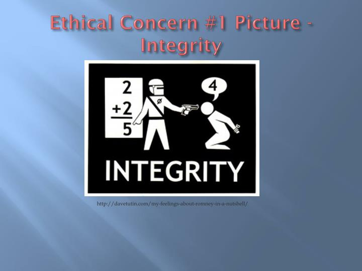 Ethical Concern #1 Picture - Integrity