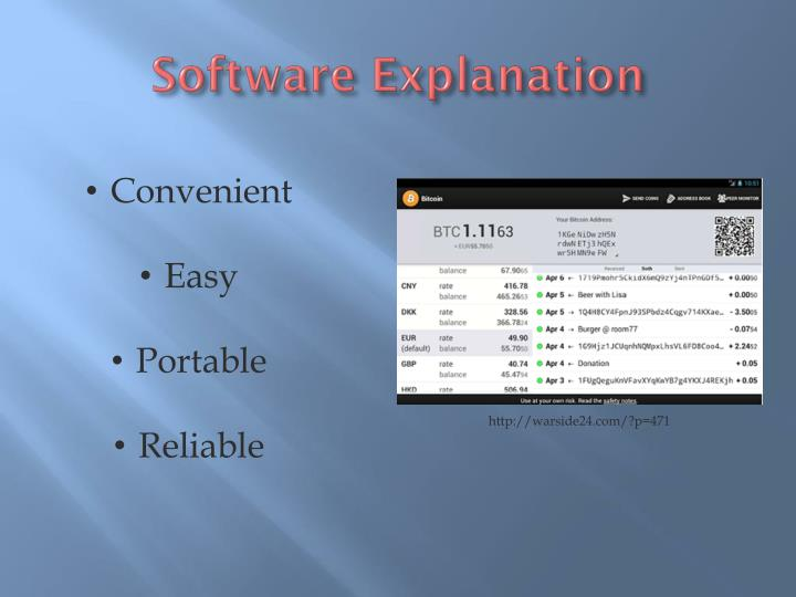 Software Explanation