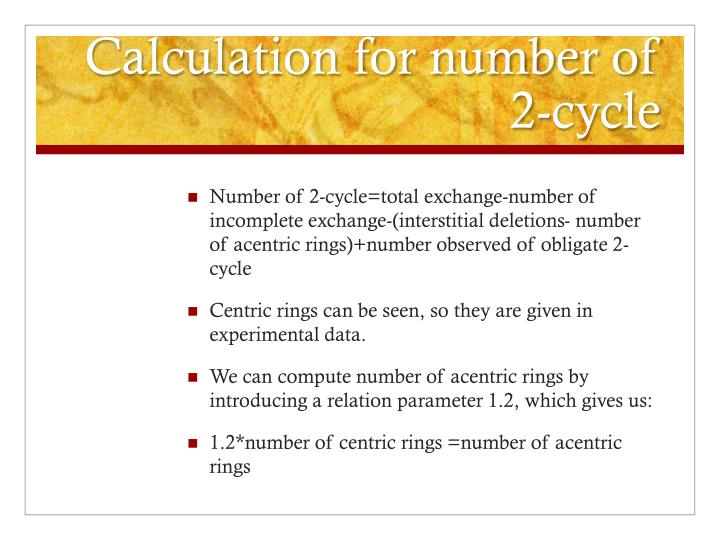 Calculation for number of 2-cycle